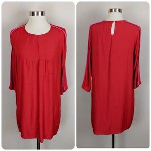 Line & Dot • ♥️ Red & Pink Shift Dress ♥ [Dresses]
